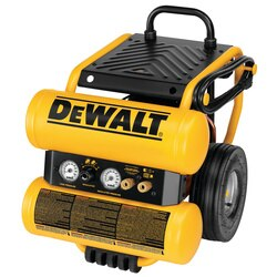 DEWALT - 11 HP Continuous 4 Gallon Electric Wheeled DollyStyle Air Compressor with Panel - D55154