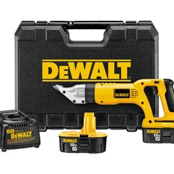 DEWALT - 18V Cordless 18 Gauge Swivel Head and Shear Kit - DC490KA