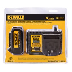 DEWALT - 20V MAX LiION Battery and Charger - DCB200C
