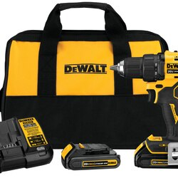 DEWALT - ATOMIC 20V MAX Brushless Compact 12 in DrillDriver Kit - DCD708C2