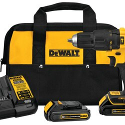 DEWALT - 20V MAX Brushless 12 in Compact Cordless Hammer DrillDriver Kit - DCD778C2