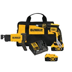 DEWALT - Drywall Screw Gun Kit with Collated Drywall Screwgun Attachment - DCF620CM2
