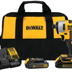 DEWALT - 20V MAX Brushless 14 in Cordless Impact Driver Kit - DCF787C2