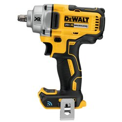 DEWALT - 20V MAX Tool Connect 12 MidRange Impact Wrench with Hog Ring Anvil Tool only - DCF896HB