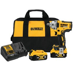 DEWALT - 20V MAX Tool Connect 12 MidRange Impact Wrench with Hog Ring Anvil Kit - DCF896HP2
