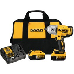 DEWALT - 20V MAX XR High Torque 12 in Impact Wrench w Detent Pin Anvil Kit 50Ah - DCF899P2