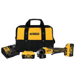 DEWALT - 45 in 20V MAX XR Paddle Switch Small Angle Grinder Kit with Kickback Brake - DCG413R2