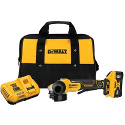 DEWALT - 20V MAX XR Brushless 412  5 in Switch Small Angle Grinder With POWER DETECT Tool Technology Kit - DCG415W1