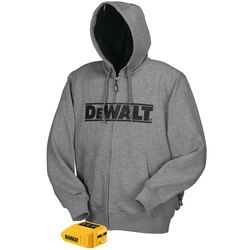 DEWALT - 20V MAX Gray Heated Hoodie Hoodie and Adaptor Only - DCHJ068B