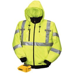 DEWALT - 20V12V MAX Class III HighVis 3in1 Heated Jacket Jacket and Adaptor Only - DCHJ070B