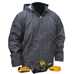 DEWALT - Heavy Duty Black Heated Work Jacket Kit - DCHJ076ABD1-S