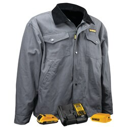 DEWALT - Charcoal Heated Barn Coat Kit - DCHJ083CD1-S
