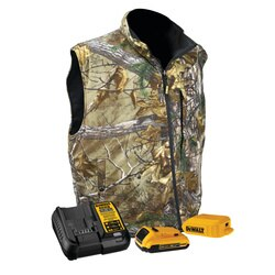 DEWALT - REALTREE XTRA CAMOUFLAGE FLEECE HEATED VEST KIT - DCHV085D1-S