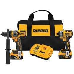 DEWALT - 20V MAX Brushless Cordless 2Tool Kit Including Hammer DrillDriver with FLEXVOLT Advantage - DCK2100P2