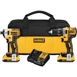 DEWALT - 20V MAX XR Brushless Cordless Compact Drill  Driver and Impact Driver Combo Kit - DCK283D2