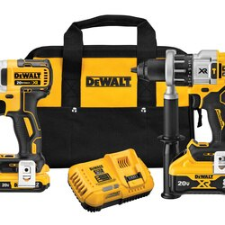 DEWALT - 20V MAX XR Hammer DrillDriver With POWER DETECT Tool Technology  Impact Driver Kit - DCK299D1W1