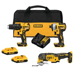 DEWALT - 20V MAX Brushless Cordless  3Tool Combo Kit - DCK379D2