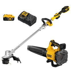 DEWALT - 20V MAX XR Brushless 14 in Cordless Folding String Trimmer and Handheld Blower Combo Kit - DCKO222M1