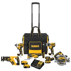 DEWALT - 20V MAX  XR Brushless Cordless 6Tool Combo Kit with Contractor Bag - DCKSS699M2