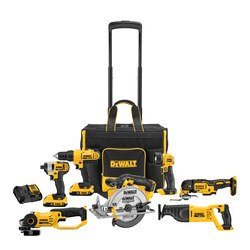 DEWALT - 20V MAX Cordless 7Tool Combo Kit With Large Rolling Contractor Bag - DCKSS721D2