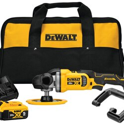 DEWALT - 20V MAX XR 7 in Cordless VariableSpeed Rotary Polisher Kit - DCM849P2