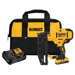 DEWALT - 20V MAX XR 16 GA Cordless Straight Finish Nailer Kit - DCN662D1