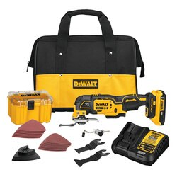 DEWALT - 20V MAX XR Brushless Cordless 3Speed  Oscillating MultiTool Kit 20 Ah Battery - DCS356D1