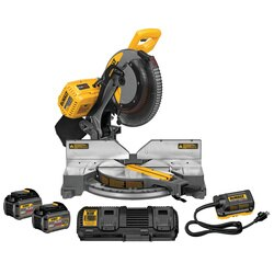DEWALT - FLEXVOLT 12 in 305 mm 120V MAX Double Bevel Compound Miter Saw 2 Battery Kit - DHS716AT2