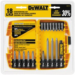 DEWALT - 18 Pc Screwdriving Set with Tough Case - DW2174