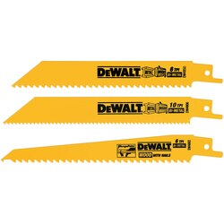 DEWALT - 3 Piece BiMetal Reciprocating Saw Blade Set - DW4853
