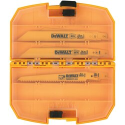 DEWALT - 15 Piece BiMetal Reciprocating Saw Blade Set with tough case - DW4890