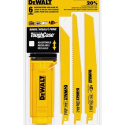 DEWALT - 6 Piece BiMetal Reciprocating Saw Blade Set with Telescoping Case - DW4896