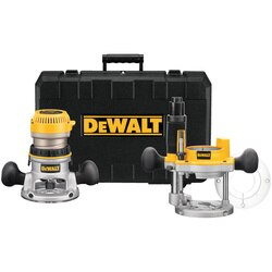 DEWALT - 214 HP maximum motor HP EVS Fixed Base  Plunge Router Combo Kit w Soft Start - DW618PK