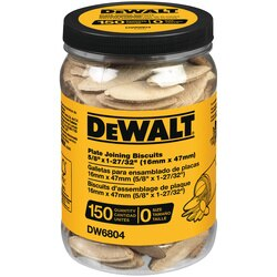 DEWALT - Tube of 150 No 0 size Biscuits - DW6804