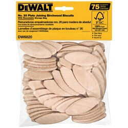 DEWALT - No 20 Size Joining Biscuits 75 Count - DW6820