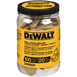 DEWALT - Tube of 100 No 20 size Biscuits - DW6825