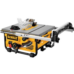 DEWALT - 10 in Compact Jobsite Table Saw with SitePro Modular Guarding System - DW745