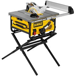 DEWALT - 10 in Compact Jobsite Table Saw with Stand - DW745S