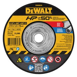 DEWALT - Mini Hub HP Small Diameter Cutting Wheels Type 1 - DW8062H