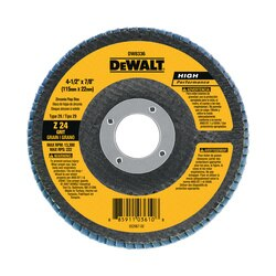 DEWALT - 412 x 78 24g type 29 HP flap disc - DW8336