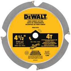 DEWALT - 412 in 4T Fiber Cement Cutting Circular Saw Blade - DWA412PCD