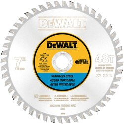 DEWALT - 7 48T Stainless Steel Metal Cutting 20mm Arbor - DWA7772