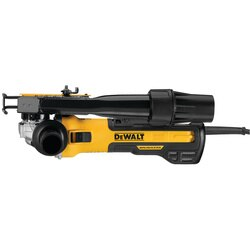 DEWALT - 5 in  6 in Brushless Small Angle Grinder Slide with Tuckpointing Shroud - DWE46202