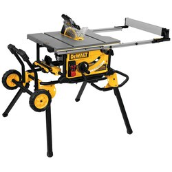 DEWALT - 10 Jobsite Table Saw  32  12 825cm Rip Capacity and a Rolling Stand - DWE7491RS