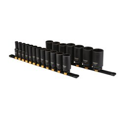 DEWALT - 19 Piece 12 in Drive Deep Impact Socket Set 6 PT - DWMT19239