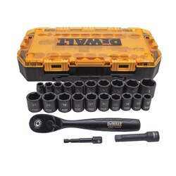 DEWALT - 23 Piece 38 in Drive Impact Socket Set - DWMT74738