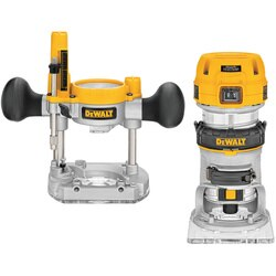 DEWALT - 114 HP Max Torque Variable Speed Compact Router Combo Kit with LEDs - DWP611PK
