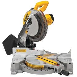 DEWALT - 15 Amp 10 in Electric SingleBevel Compound Miter Saw - DWS713