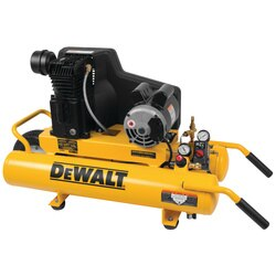 DEWALT - 8 Gal 155 PSI 19 HP Electric Dual Voltage Wheelbarrow Air Compressor - DXCMTA1980854