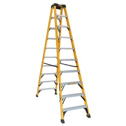 DEWALT - 10 ft Fiberglass Twin Front Step Ladder - DXL3030-10